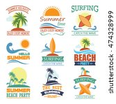beach badges | Shutterstock .eps vector #474328999