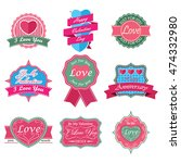 love badges | Shutterstock .eps vector #474332980