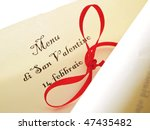 valentine's day unrolled... | Shutterstock . vector #47435482
