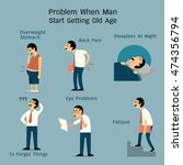 vector illustration set of man... | Shutterstock .eps vector #474356794