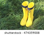 rainy shoes | Shutterstock . vector #474359008