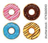 set of donut vector | Shutterstock .eps vector #474360043