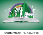 concept nature of eco with... | Shutterstock .eps vector #474360448
