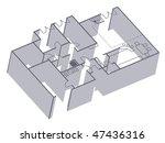 3 d modern house plan   Shutterstock .eps vector #47436316