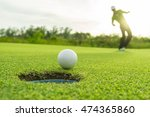 golfer action to win after... | Shutterstock . vector #474365860