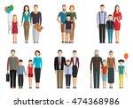 family flat vector set | Shutterstock .eps vector #474368986
