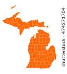 map of michigan | Shutterstock .eps vector #474371704