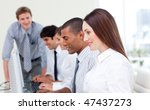 multi cultural business team at ... | Shutterstock . vector #47437273