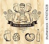 oktoberfest retro styled label...   Shutterstock .eps vector #474376228