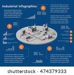 industrial infographics city | Shutterstock . vector #474379333