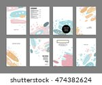 annual report brochure template ... | Shutterstock .eps vector #474382624