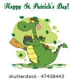 happy st patrick's day greeting ... | Shutterstock .eps vector #47438443