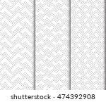 seamless geometric patterns   Shutterstock .eps vector #474392908