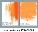 banner with splash on abstract... | Shutterstock .eps vector #474400084