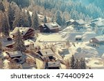 a quaint village in the swiss... | Shutterstock . vector #474400924