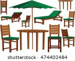 garden furniture and sun... | Shutterstock .eps vector #474402484