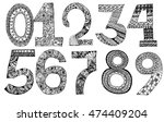 numbers decorative set with a... | Shutterstock .eps vector #474409204