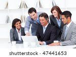 multi cultural business team... | Shutterstock . vector #47441653