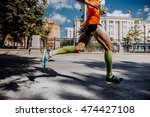 legs of a young male athlete in ... | Shutterstock . vector #474427108