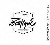 fashion boutique premium  ... | Shutterstock .eps vector #474433189