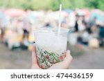 thai jelly cocktail shake on a... | Shutterstock . vector #474436159