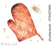 watercolor kitchenware clipart  ... | Shutterstock . vector #474437404