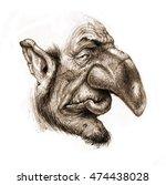 fairy tale character troll... | Shutterstock . vector #474438028
