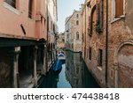 venetian canal with reflections ... | Shutterstock . vector #474438418