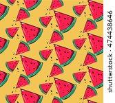 set of seamless background... | Shutterstock .eps vector #474438646
