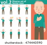 diverse set of senior man on... | Shutterstock .eps vector #474440590