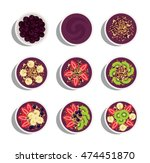 acai menu  delicious and... | Shutterstock .eps vector #474451870
