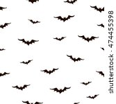 seamless pattern with bats.... | Shutterstock .eps vector #474455398