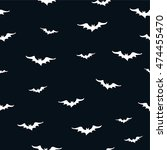 seamless pattern with bats.... | Shutterstock .eps vector #474455470