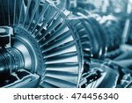 turbine engine profile. ... | Shutterstock . vector #474456340