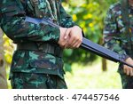soldiers are trained in jungle... | Shutterstock . vector #474457546