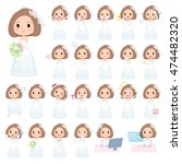 set of various poses of bob... | Shutterstock .eps vector #474482320