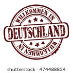 """rubber stamp with text """"welcome ...   Shutterstock .eps vector #474488824"""