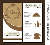 menu restaurant cover icon... | Shutterstock .eps vector #474489070