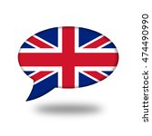 british flag in a speech... | Shutterstock . vector #474490990