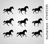 horse icon set | Shutterstock .eps vector #474492550