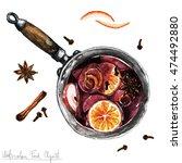 watercolor food clipart  ... | Shutterstock . vector #474492880