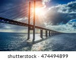 the bridge between denmark and... | Shutterstock . vector #474494899