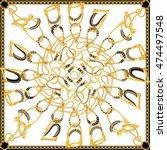 scarf fabric printing design   Shutterstock . vector #474497548