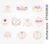 wedding party invitation vector ... | Shutterstock .eps vector #474503830