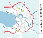 saint petersburg map in sketch...   Shutterstock .eps vector #474508276