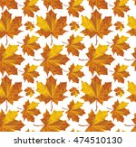 vector. autumn leaves  carpet.... | Shutterstock .eps vector #474510130