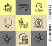 set of linear london icons.... | Shutterstock .eps vector #474524536