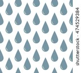 seamless background of drops on ... | Shutterstock .eps vector #474529384