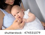 happy mother playing with her... | Shutterstock . vector #474531079