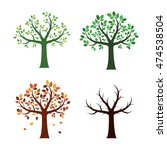 set trees and for seasons.... | Shutterstock .eps vector #474538504